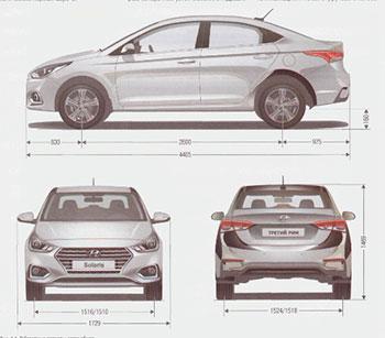 Общие сведения об автомобиле Hyundai Solaris с 2016